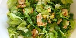 Salate der Saison mit <br />Hähnchenbruststreifen - 9,90 €